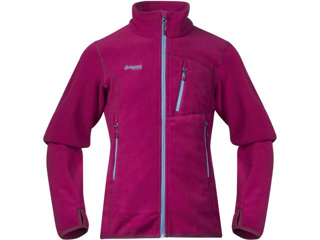Bergans Runde Jacket Girls Cerise/Glacier/Dusty Cerise